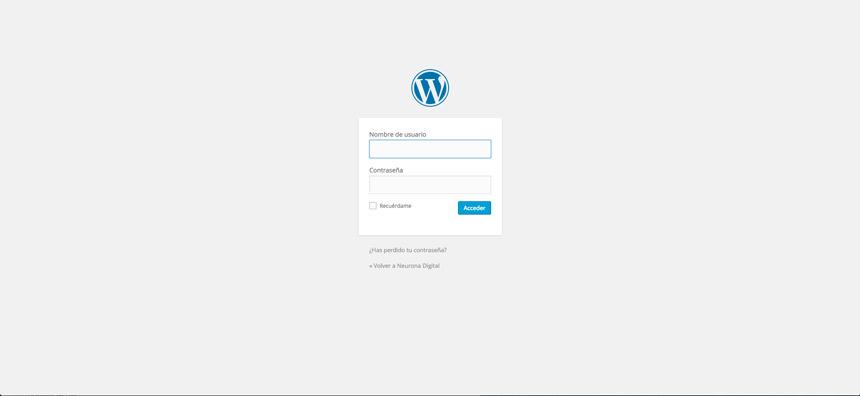 primer paso para cambiar el idioma wordpress